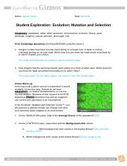 C._Mutation_and_natural_selection_Gizmo - C Student ...