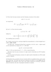 Differential Geometry Problem Set 8
