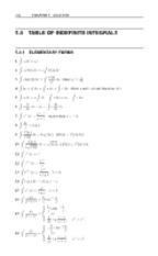 Table of Indefinite Integrals