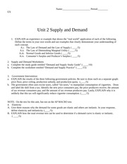 AP MACRO unit 2 problem set