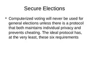 Secure Elections