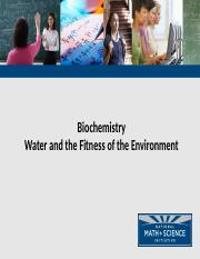 Chapter 3 -  Water and the Fitness of the Environment.pptx