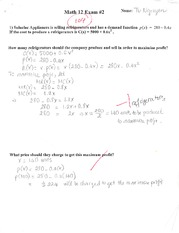 Midterm Exam Applied Math to Economic Use