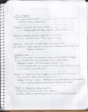 Shakespeare Notes and Test Review