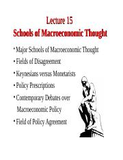 Lecture 15. Schools of Macroeconomic Thought.ppt