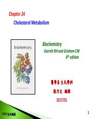 Chapter 24-Cholesterol Metabolism