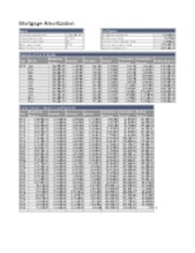 Amortization Analysis Worksheet