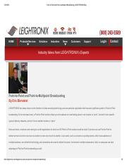 Point-to-Point and Point-to-Multipoint Broadcasting _ LEIGHTRONIX Blog.pdf