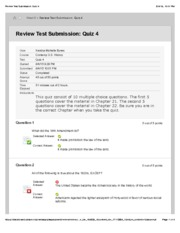 his 105 - Review Test Submission: Quiz 4