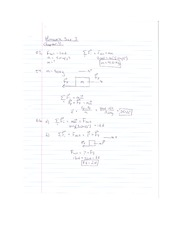 Physics101 Homework 3 with answers part 1 (exercises)