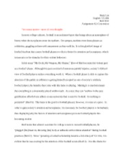 English 125 Essay #2-Concession