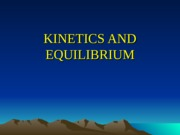 Kinetics and equilibrium(2003).ppt