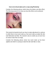 how to do virtual make-up for a snap in Photoshop 2 dollars.docx