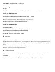 BIO 105 Final Exam Guide to the Key Concepts (units 1 - 3) - 2016.docx