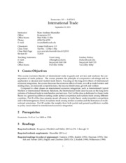 ECON_101_Syllabus - International Trade
