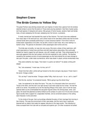 The Bride Comes to Yellow Sky-Stephen Crane Analysis