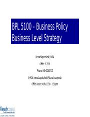 BPL 5100 Session 7 - Business Level Strategy.pptx
