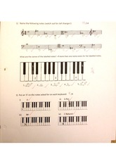 Music Quiz-Notes, the Keyboard and Musical Terms