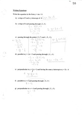 MBF3C Writing Equations Notes