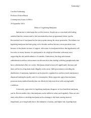 capital punishment essay sanmaung caroline sanmaung professor 3 pages marijuana essay
