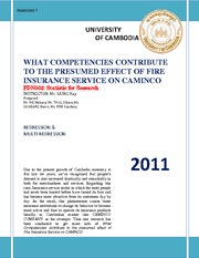 FDN502_Assignment_3_What Competencies contribute to the presumed effect of Fire Insurance Service on