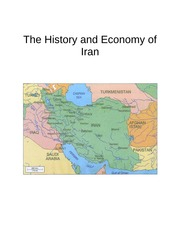 History and Economy of Iran