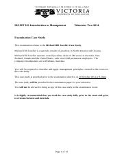 Mgmt101 Tri Two 2014 Exam Case Study.doc