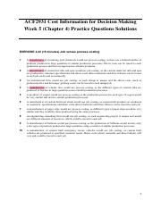 Week 5 (Chapter 4) Practice Questions Solutions