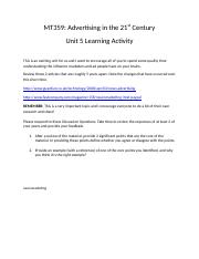 MT359 Unit 5 Reading and Learning Activity.docx