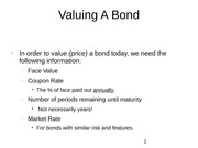 Valuing A Bond