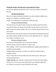 Pricing Product Notes
