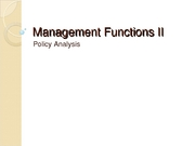 management functions ii