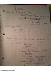 business and politics, class notes