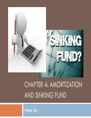 amortization and sinking fund essay C dr oksana shatalov, spring 2012 1 53: amortization and sinking funds amortization is to pay back a debt with regular installments of money (when someone is gradually.