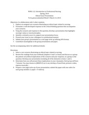 Ethical Issue Presentation Assignment - Rubric - Lecture Material