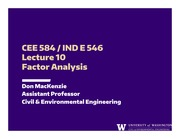 Lecture 10 - Factor Analysis