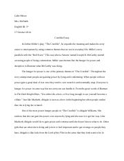 pasted together out of separate fragments that were written years  2 pages the crucible essay