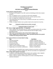 Notes Principles of Accounting II Job order systems and overhead 5