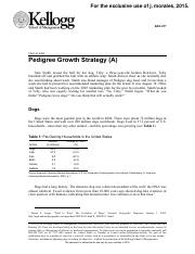 Pedigree Growth Strategy (A)