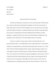 English King Candy essay.docx