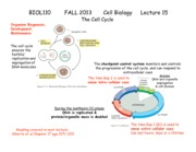 BIOL110-13-Lecture+15-Cell+Cycle