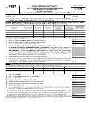 Form 4797 - Form 4797 Department of the Treasury Internal Revenue ...