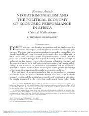 div-class-title-neopatrimonialism-and-the-political-economy-of-economic-performance-in-africa-critic