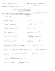 2008 Fall Exam #1 Solutions