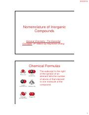 CHM11-3 Lecture on Chemical Formula and Nomenclature