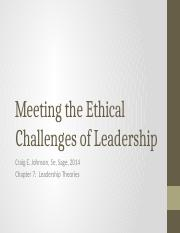 Johnson 7 - Ethical Leadership