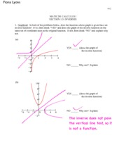 Calculus Section 1.5 worksheet
