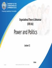 Lecture 10 Power and Politics.pptx