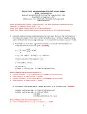2300 FT Assignment 5 Answer Key - HH\/HLST 2300 ...