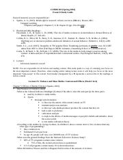 Exam II Study Guide (COMM 203, SP16)